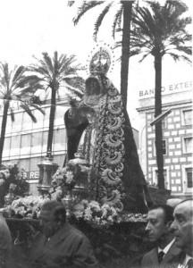 Virgen del Valle en 1965. Traslado Santa Misión