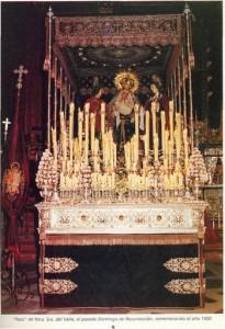 Paso de la Virgen del Valle el Domingo de Resurrección de 1990. Rememoración de la Estación de Penitencia de 1903