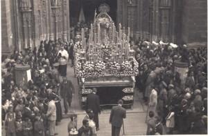 Virgen del Valle en 1946. Actos de proclamación de la Virgen de los Reyes como Patrona de Sevilla