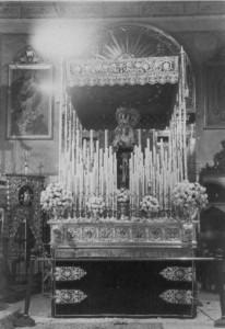 Paso de la Virgen del Valle en 1965