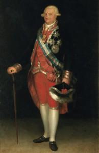 Retrato Rey Carlos IV por Agustín Esteve